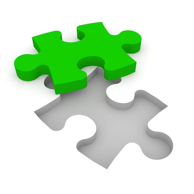 ジグソーパズルのワンピース