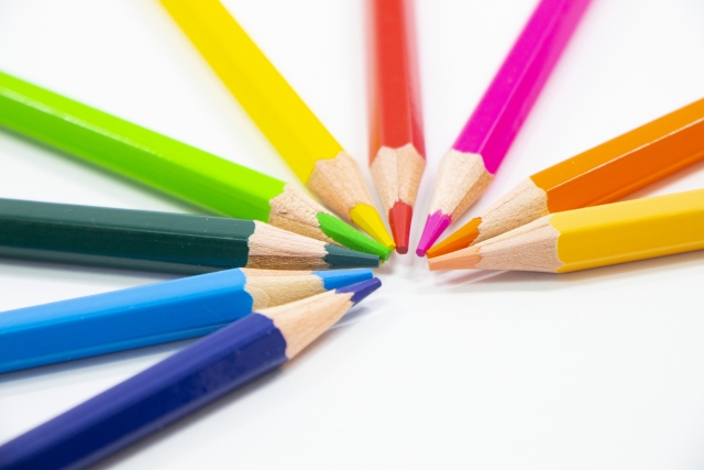 9本の色鉛筆
