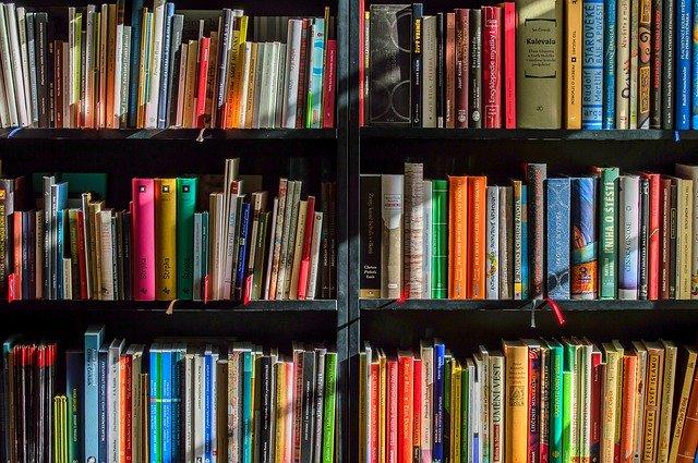 本棚にぎっしり詰まった本