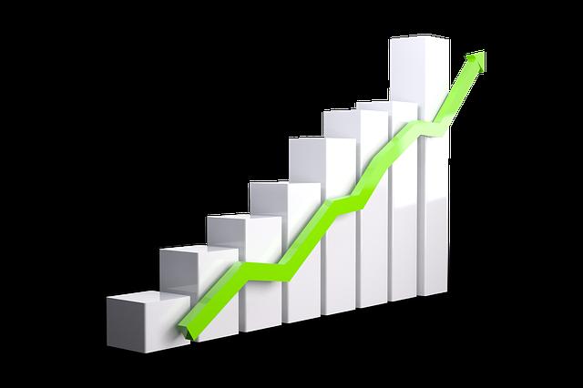 成長を表す棒グラフ
