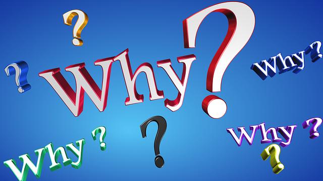 Why?の文字
