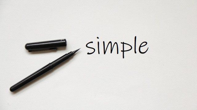 simpleと書かれた紙