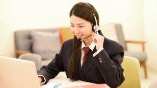 オンラインで勉強している女の子